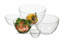 Набор стеклянных салатников Simax 5 предметов