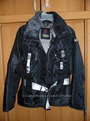 жен демисезон куртка, испания, гусиный пух, пояс, съемный воротник