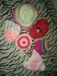 шапочки на разную погоду от рождения до 2 лет