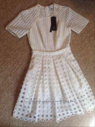 Белое молочное Платье lost ink оригинал Лондон кружево