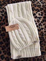 Шапка шарф набор Ugg угги шерсть