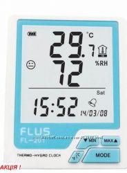Термогигрометр с будильником и календарем FL-201