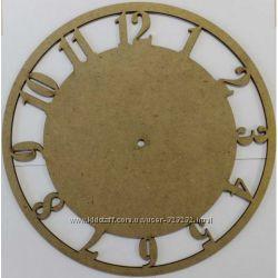 Заготовка для часов Круглая с цифрами, диаметр 30 см