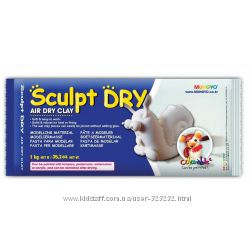 Масса для моделирования самозастывающая Sculpt Dry белая, 500 г