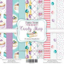 Набор односторонней бумаги Candy Shop от Фабрика Декора, 30, 5х30, 5 см