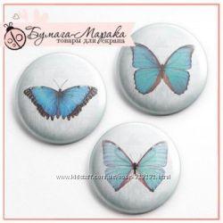 Набор скрап-фишек Бабочки от Бумага-Марака, 3 шт.