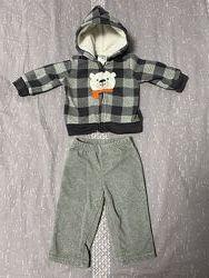 Carters набор костюм комплект картерс штаны флисовый флис кофта