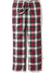 Old navy пижамные домашние штаны фланель