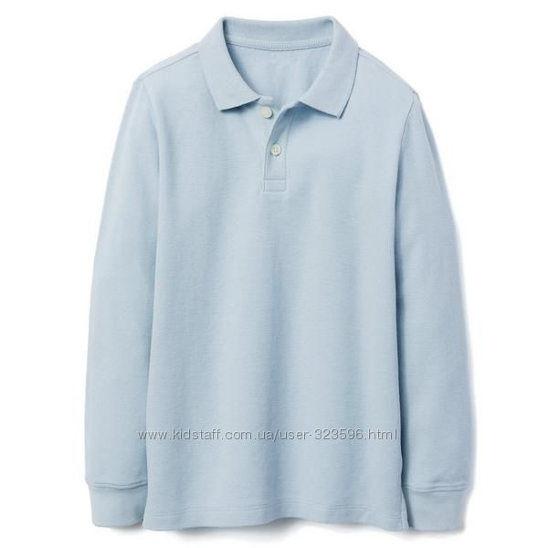 Реглан поло для мальчика 7-9 лет pique uniform gymboree