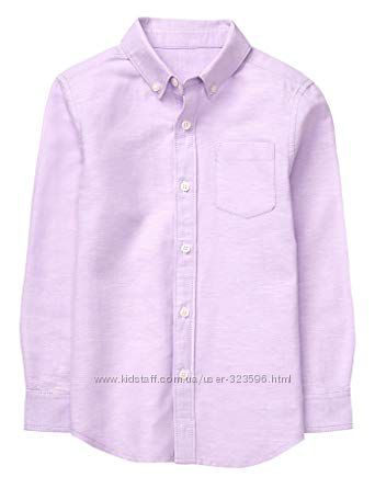 Рубашка для мальчика 7-9 лет лён коттон Gymboree
