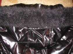 Опушка песец черная 83см