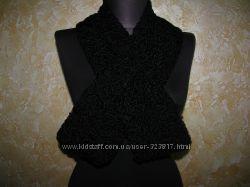 Шикарный шарф-воротник из Каракуля