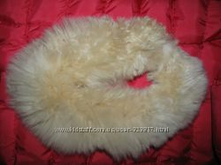 Накладной воротник шарф из меха Ламы