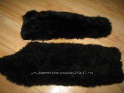 Две полоски меха Песца черного 52см и 41см