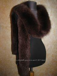 Натуральный мех Песец на пальто куртку