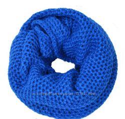 Теплые вязаные шарфы-снуды Много цветов