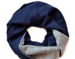 Теплые шарфы-снуды большой выбор