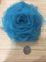 Розы из атласной ленты