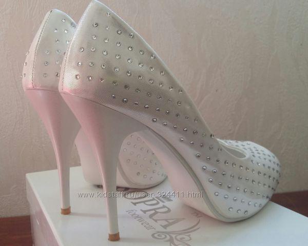 Туфли свадебные со стразами купить в москве