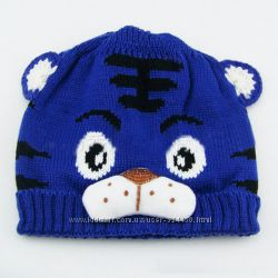 шапки вязанные Тигрик 1-3 года. цена 73 грн