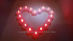 Красная LED свеча электронная светодиодная на батарейках, лед свечи