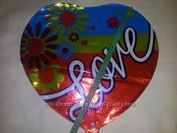 Шары воздушные и для гелия, Шарики фольга 44 см В форме сердца