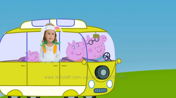 Фотоклип видео Свинка Пеппа поздравляет с Днём Рождения