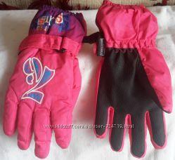 Перчатки лыжные на 3-4 года