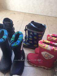 Обувь на 2-3 года, сапоги, кроссовки, резиновые сапожки
