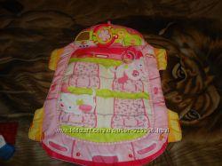Развивающий  коврик Bright Stars Розовый автомобиль