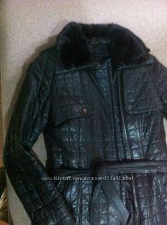 Кожаная куртка пальто пуховик