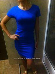 Платье синее Stradivarius