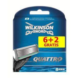 Wilkinson Schick Quattro 8шт картриджи для станка оригинал