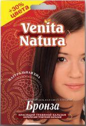 Продаю Красящий травяной бальзам для волос Venita Natura Хна