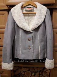 Демисезонная дубленка жакет куртка из иск. замши