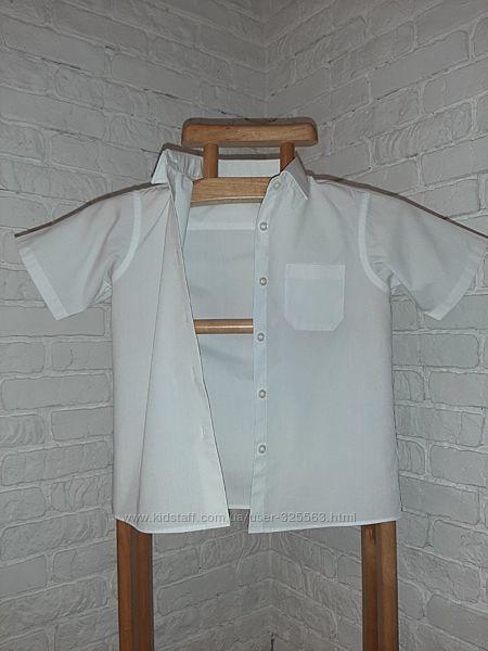 белая блузка Marks & Spencer, размер 122 на 6-7 лет