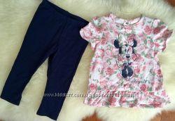 Очень милый комплект костюм H&M для девочки 9-12 месяцев