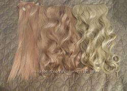 Пряди волосы на заколках тресс термоволосы
