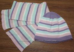 Демисезонный комплект шапочка и шарф George