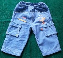 Тепленькие вельветовые штанишки на подкладке от Chicco