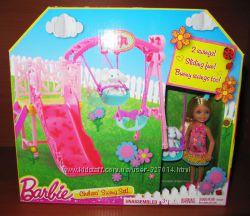 Дочка сестра барби Челси Mattel Barbie Chelsea на качелях сестричка кукла