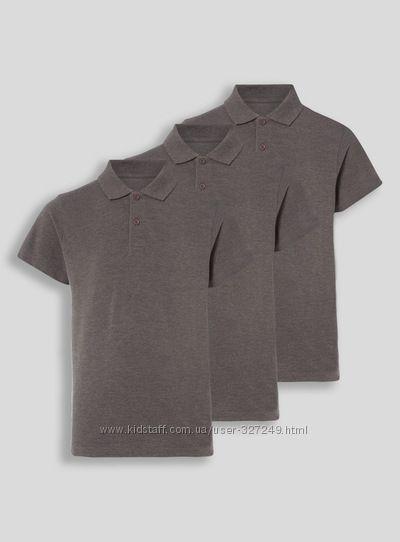 Серые футболки-поло унисекс TU Англия