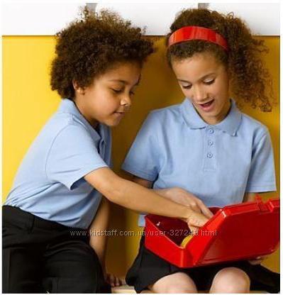 Голубые футболки-поло в школу Англия