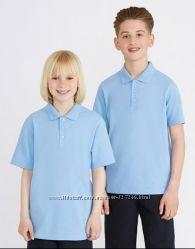 Голубые футболки-поло в школу Matalan Англия