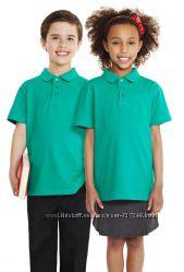 Бирюзовые футболки-поло в школу George Англия