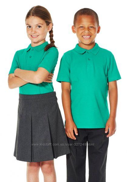 Бирюзовые футболки-поло в школу Matalan Англия