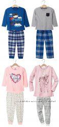 Утеплённые красочные пижамы для мальчиков и девочек Lupilu Германия
