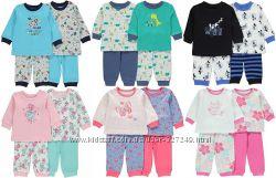 Симпатичные пижамки для мальчиков и девочек George Англия