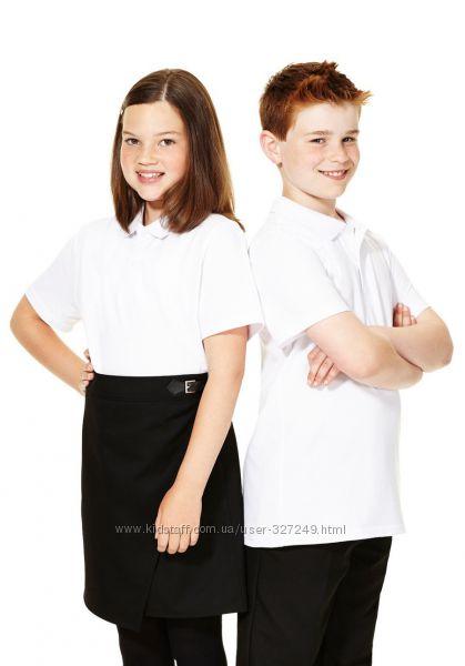 Белые футболки-поло в школу F&F Англия