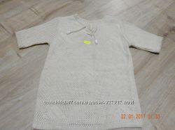 Льняная футболка на мальчика 3-4 года